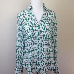 Express Portofino Slim 4-Leaf Clover Shirt xsp NWT